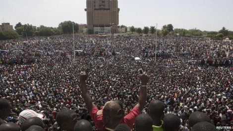 Ouagadougou October 2014 demonstration against government of Blaise Compaore